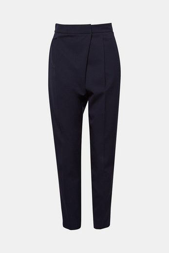 ESPRIT COLLECTION Leichte Stretch-Hose mit Wickel-Effekt