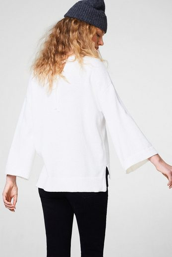 ESPRIT Oversize-Pullover mit rückseitiger Schleife