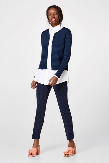 Esprit Collection Feminine Ripp Cardigan In Fine Knit