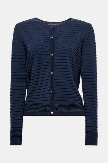 ESPRIT COLLECTION Femininer Ripp-Cardigan aus feinem Strick