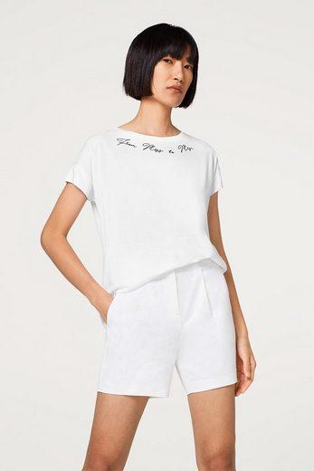 ESPRIT COLLECTION Seidiges Shirt mit Statement-Stitching