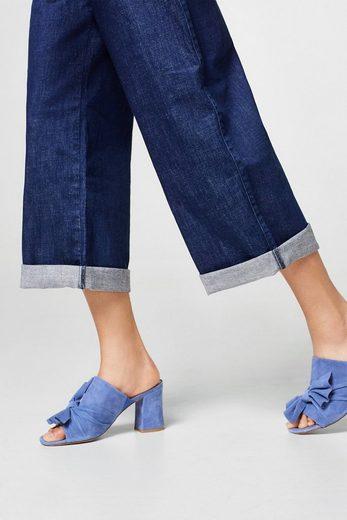 ESPRIT Super-Stretch Latz-Jeans mit weitem Bein