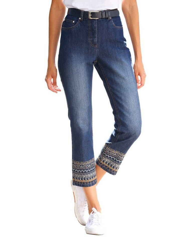 Dress In 7/8 Hose Paola slim | Bekleidung > Hosen > 7/8-Hosen | Blau | Baumwolle - Elasthan - Polyester | Dress In