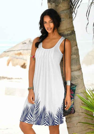3ed6b11286dfa Beachtime Strandkleid mit Blätterprint