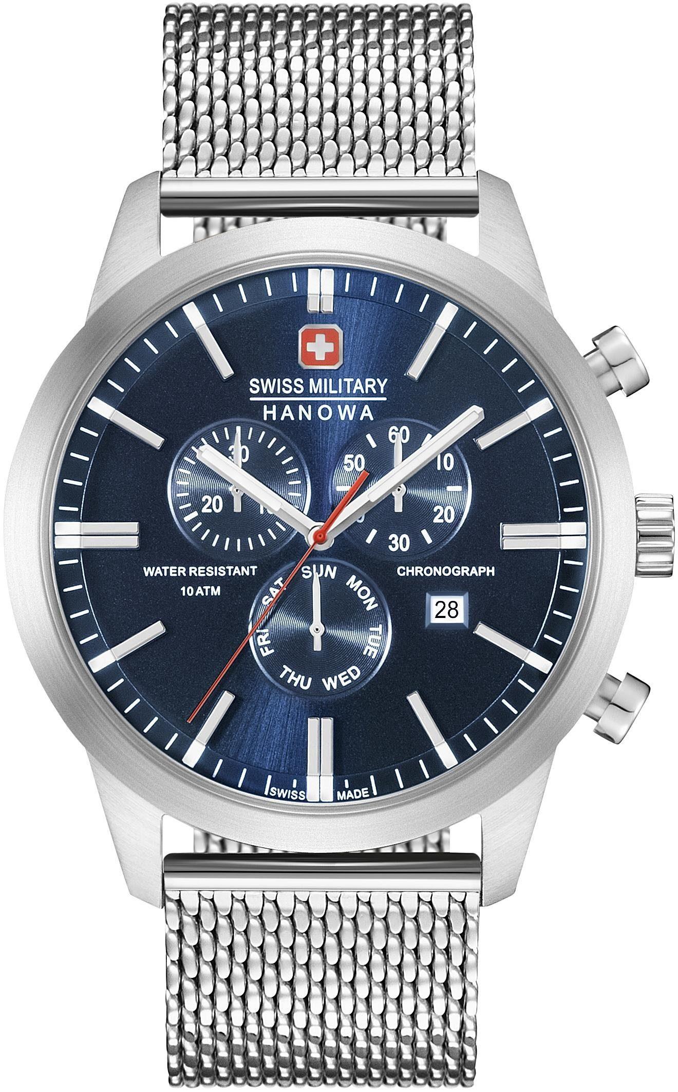 Swiss Military Hanowa Schweizer Uhr »Chrono Classic Mesh, 06-3308.04.003« mit kleiner Sekunde