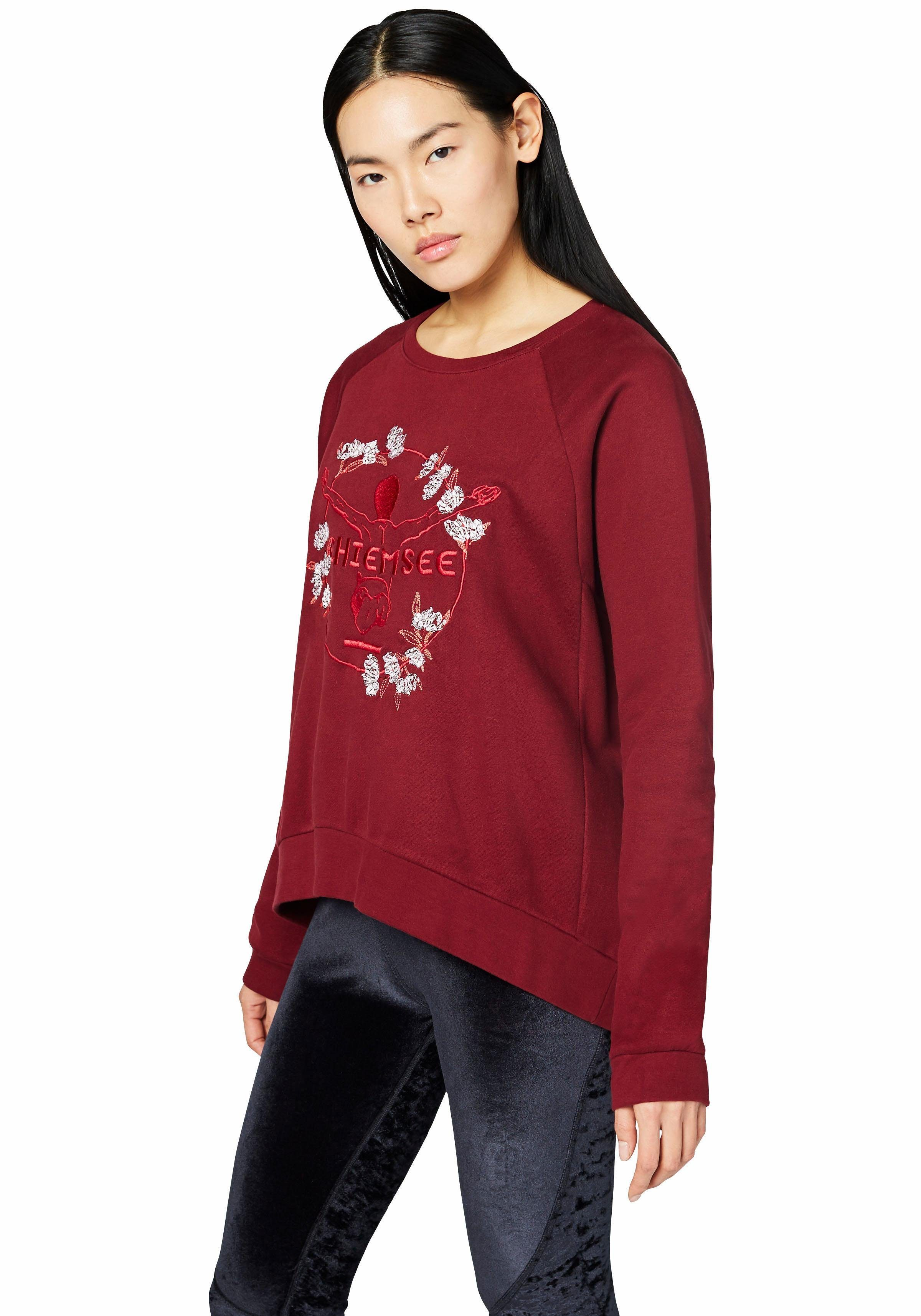 Damen Chiemsee Sweatshirt »SUN VALLEY« mit echter Stickerei  | 04054583241561