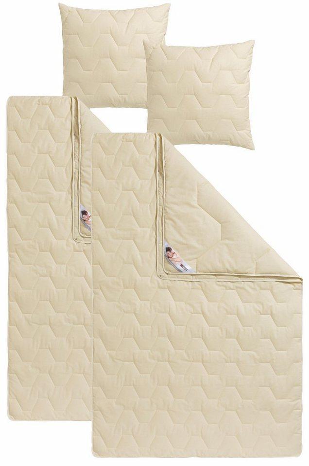 Naturfaserbettdecken Kopfkissen Baumwolle 60 C My Home 4 Jahreszeiten Material Fullung Baumwolle Kunstfaser Online Kaufen Otto