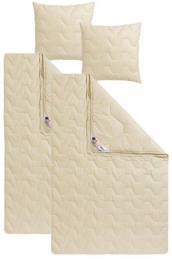 Naturfaserbettdecke + Kopfkissen, »Baumwolle 60 °C«, my home, Material Füllung: Baumwolle, (Spar-Set), natürlich gut schlafen in reiner Baumwollqualität