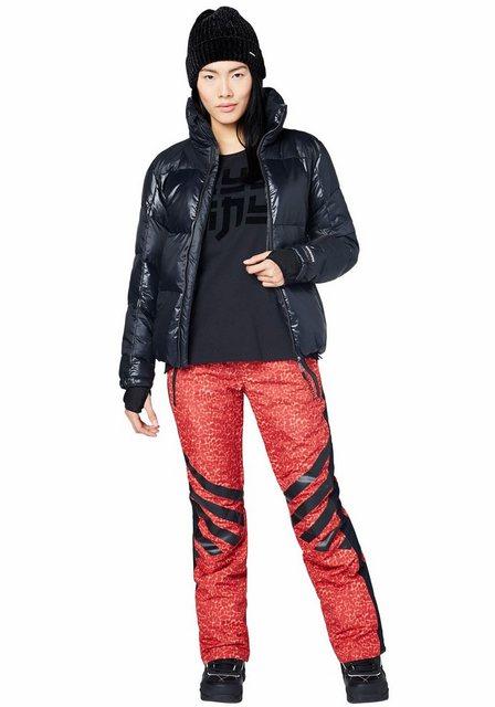 Damen Chiemsee Skijacke mit wasserabweisender und wärmender Funktion schwarz | 04054583243213