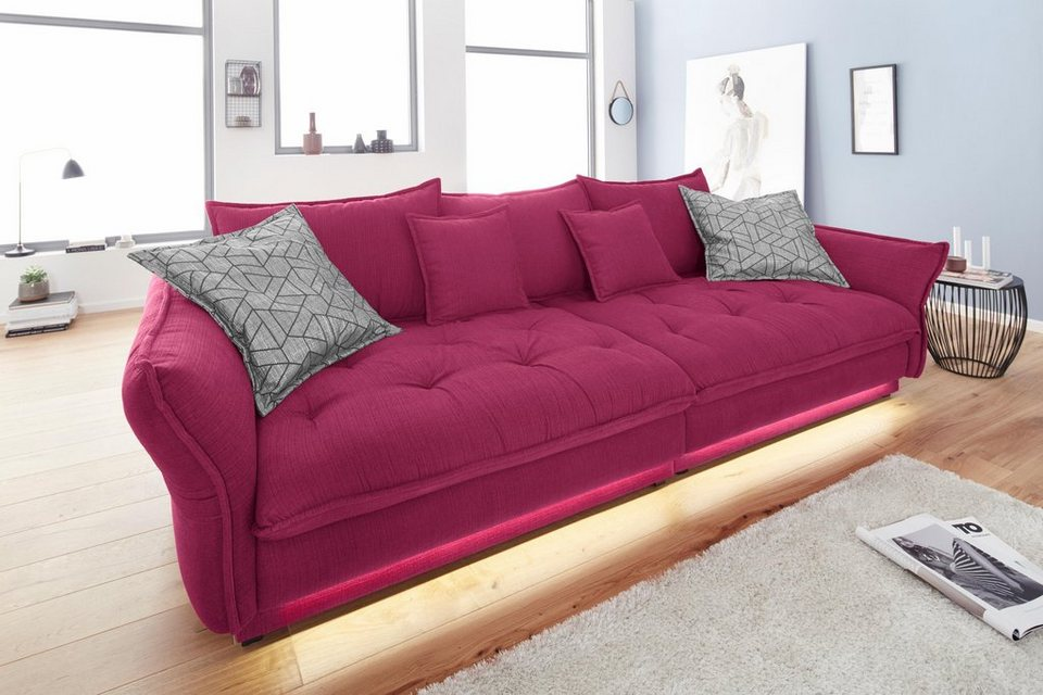 big sofa pink. Black Bedroom Furniture Sets. Home Design Ideas