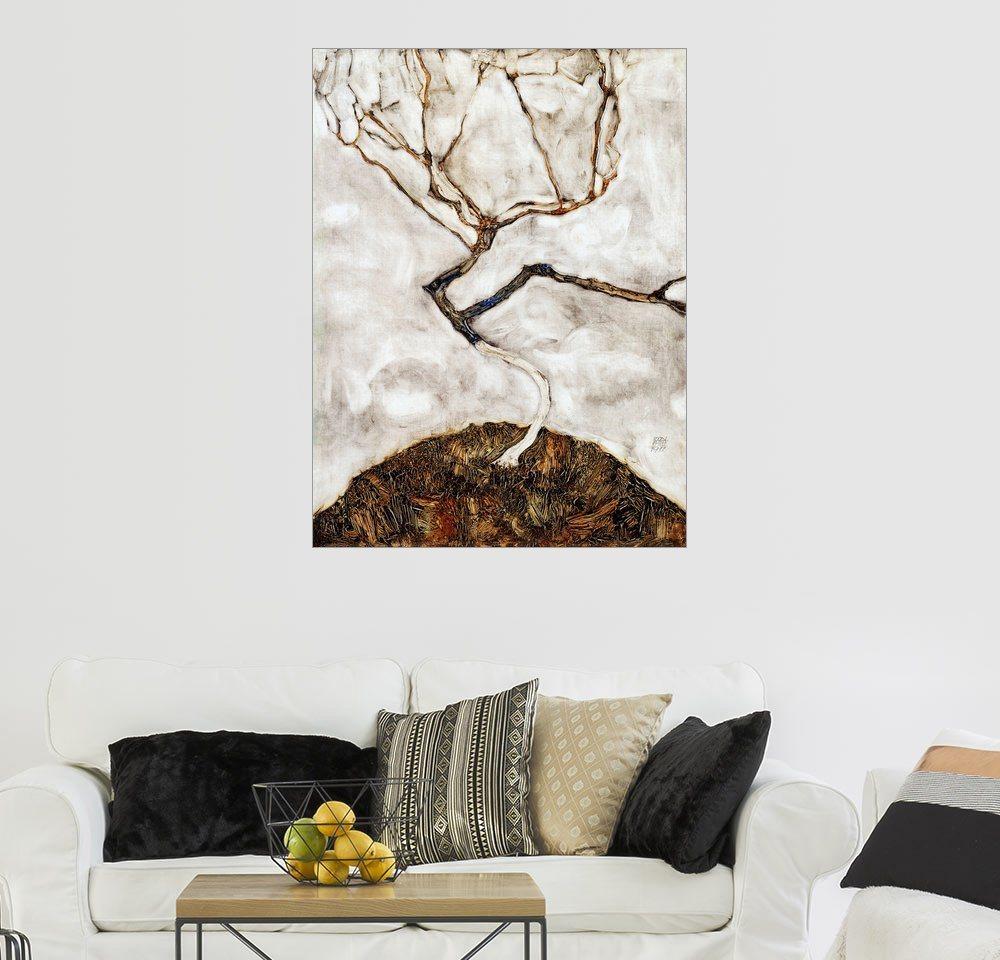 Posterlounge Wandbild - Egon Schiele »Kleiner Baum im Spätherbst« | Dekoration > Bilder und Rahmen > Bilder | Holz | Posterlounge