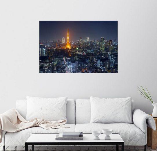 Posterlounge Wandbild - Mike mikedie »Tokio Stadtansicht«