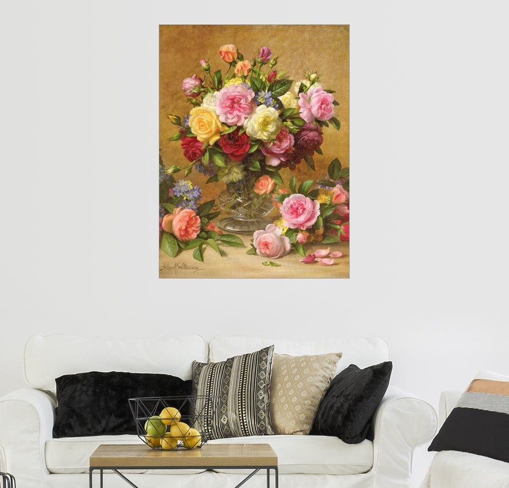 Posterlounge Wandbild - Albert Williams »Viktorianische Rosen«