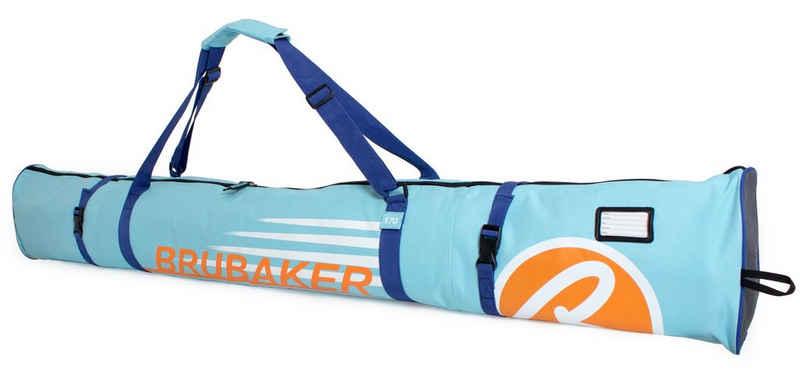 BRUBAKER Sporttasche »Carver Champion Skitasche Hellblau« (1-tlg., reißfest und schnittfest), gepolsterter Skisack mit Zipperverschluss