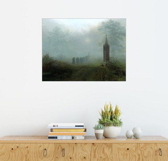 Posterlounge Wandbild - Ernst Ferdinand Oehme »Prozession im Nebel«