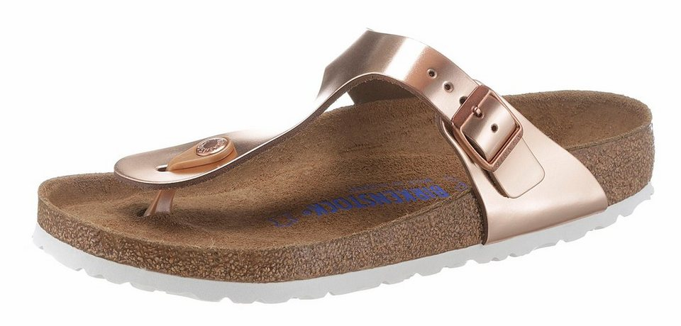 0276306148be92 Birkenstock »GIZEH« Zehentrenner in Glanz-Optik