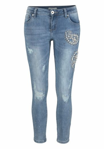 Hailys Skinny-fit-jeans Pearl, Mit Perlen