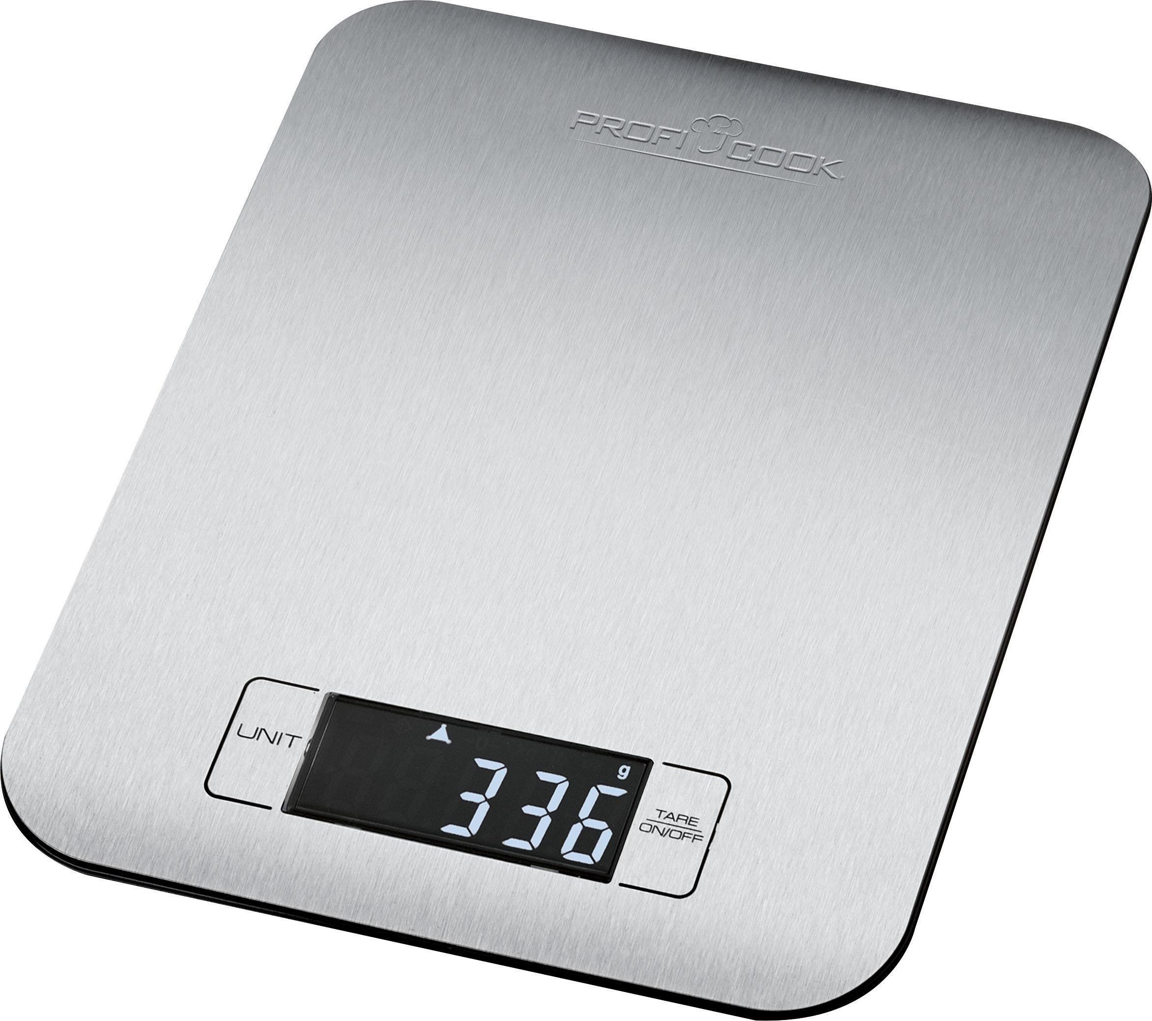 ProfiCook Küchenwaage PC-KW 1061, Extra flache digitale Küchenwaage