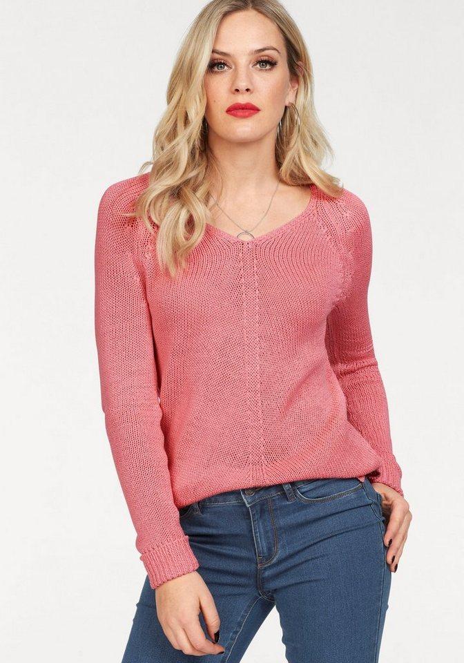 Vero Moda V-Ausschnitt-Pullover »KAKI« mit Schlitzen online kaufen ...