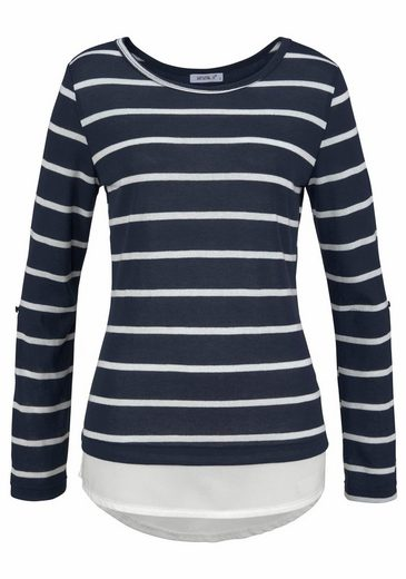 Hailys Crew-neck Sweater Malon, With Blouses For Use At The Hem
