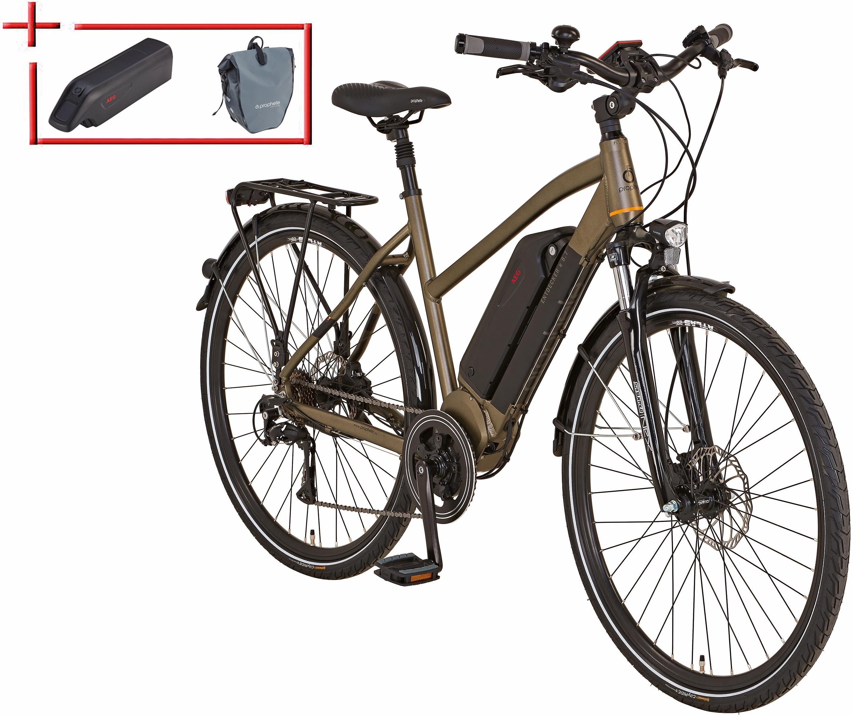 Prophete Da Trekking E-Bike inkl. 2 Akku u. Packt., Mittelm., 28 Z., 8 Gang, »Entdecker e8.7«