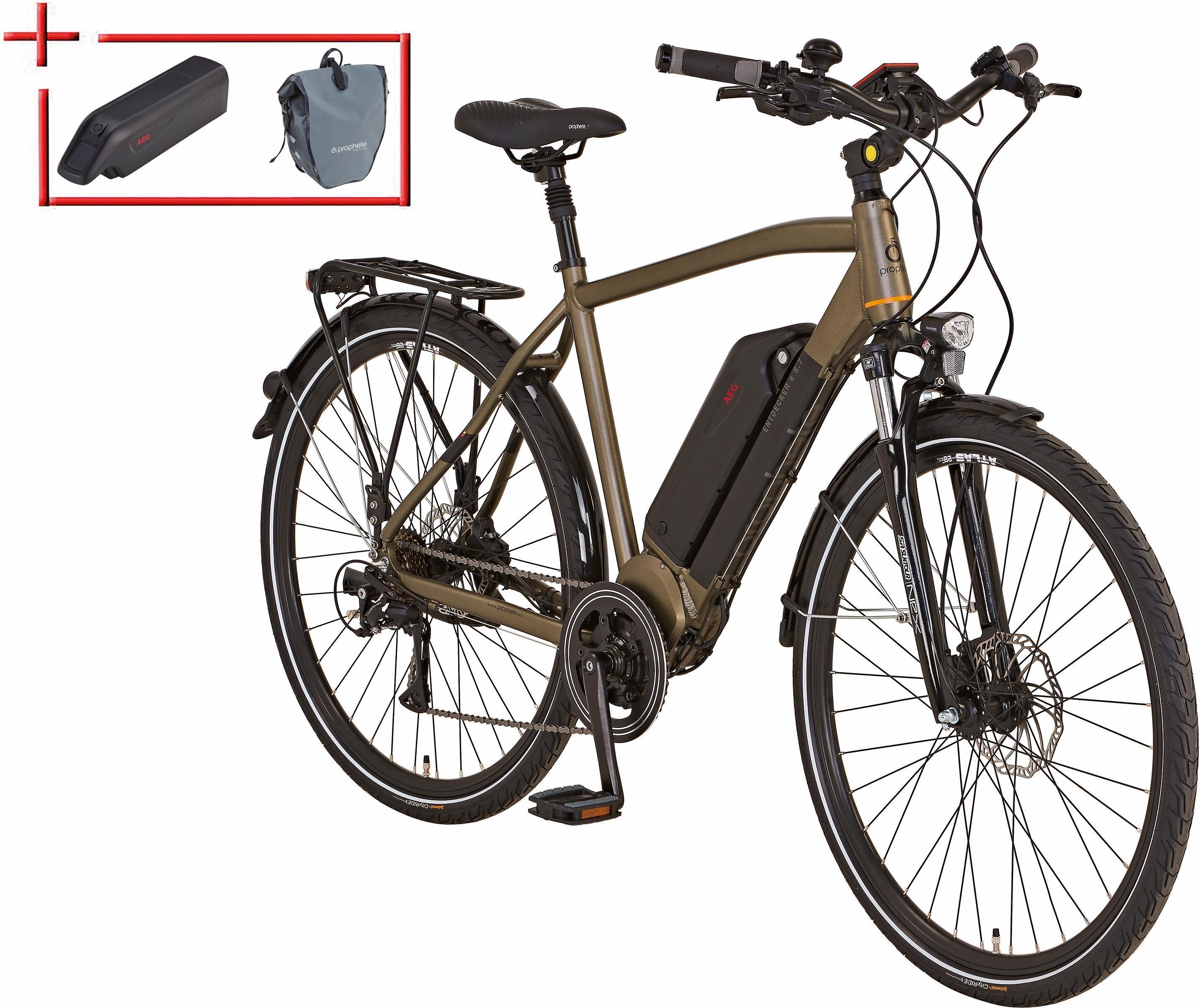 Prophete He Trekking E-Bike inkl. 2. Akku u. Packt., Mittelm., 28 Z., 8 Gang, »Entdecker e 8.7«