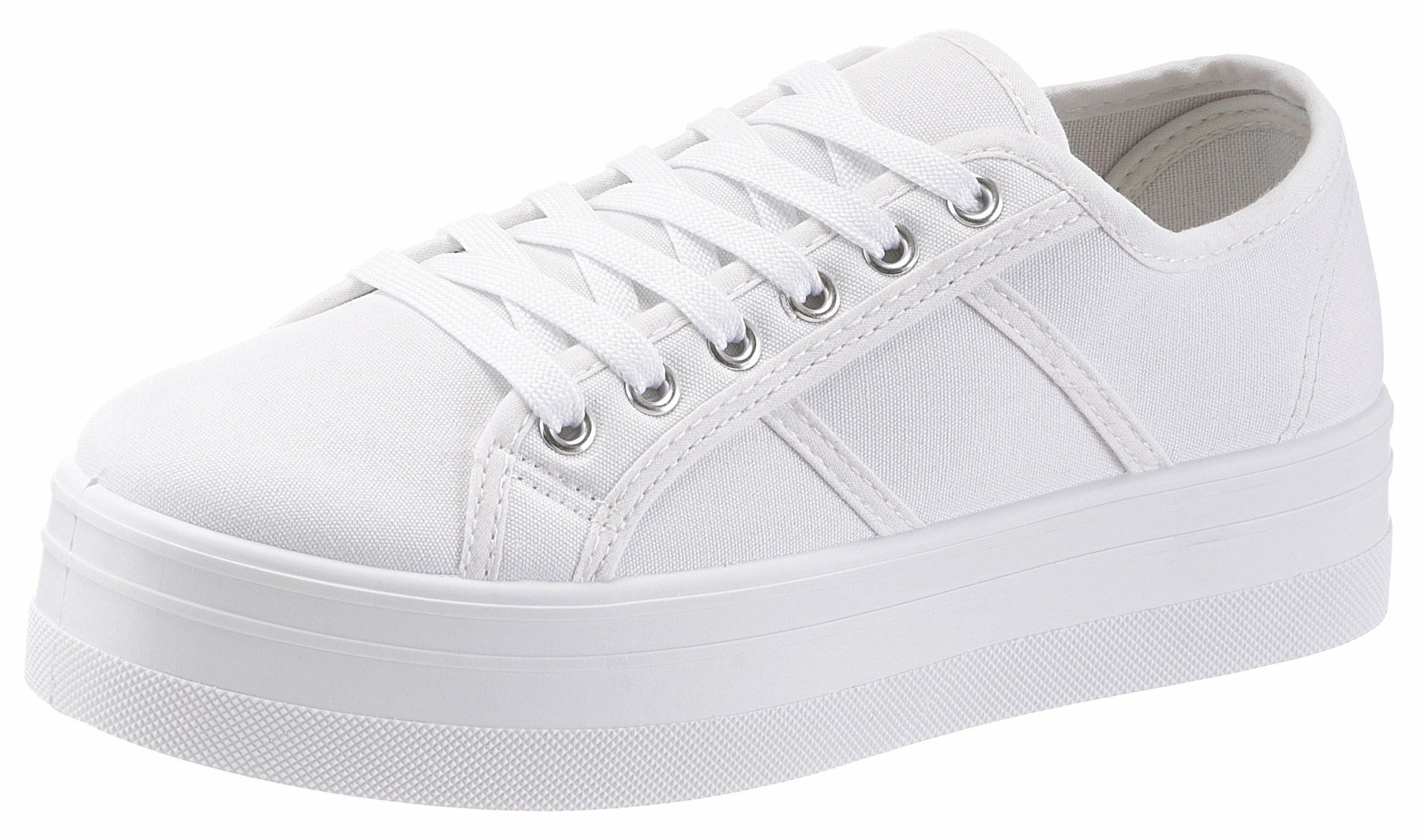HaILYS Pina Sneaker, im Basic-Look online kaufen  weiß