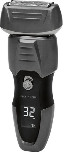 ProfiCare Elektrorasierer PC-HR 3012, ausklappbarer Langhaarschneider, 3-fach Schersystem mit 2 flexiblen Präzisions-Scherfolien & integriertem Mitteltrimmer