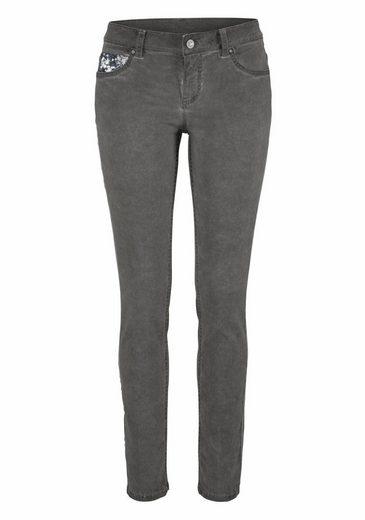 ZABAIONE Skinny-fit-Jeans KIMMY, mit Pailletten