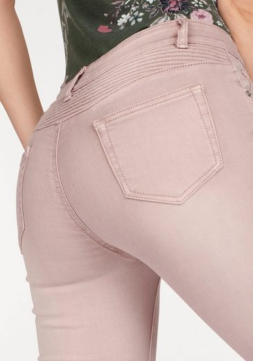 HaILYS Skinny-fit-Jeans KINA, mit Bikerdetails
