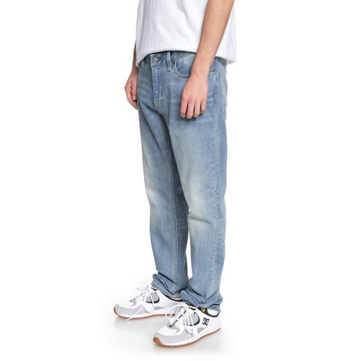 DC Shoes Straight Fit Jeans Worker Light Indigo Blue