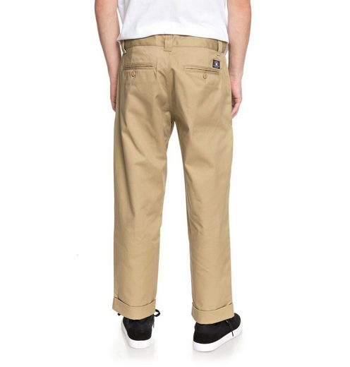DC Shoes Baggy Chinos Rolled On