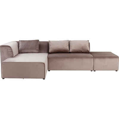 KARE Sofa »Sofa Infinity Samt Taupe Links«