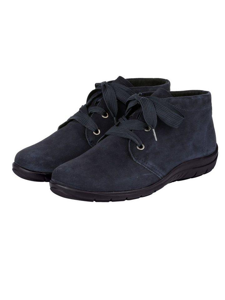 Naturläufer Schnürstiefelette aus weichem Leder   Schuhe > Stiefeletten > Schnürstiefeletten   Blau   Polyester   Naturläufer