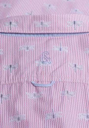 colours & sons Hemd mit Libellen-Print, Kontrastverarbeitung