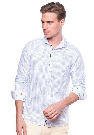 colours & sons Hemd mit Haifischkragen, Kontrastverarbeitung