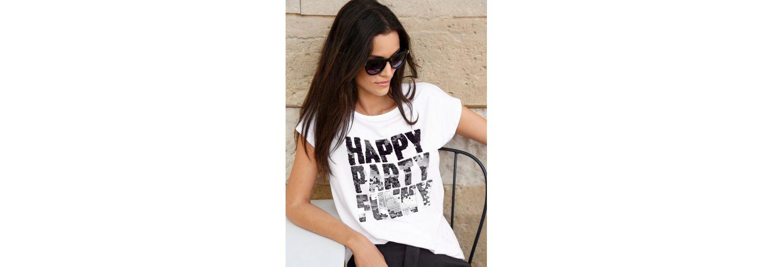 Amy Vermont Shirt mit Paillettenschriftzug Günstig Kaufen Amazon Für Billigen Rabatt Sast Online Mode Online-Verkauf Kuald