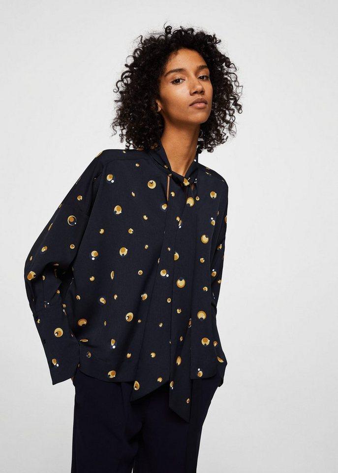 mango bedruckte bluse mit schleife online kaufen otto. Black Bedroom Furniture Sets. Home Design Ideas