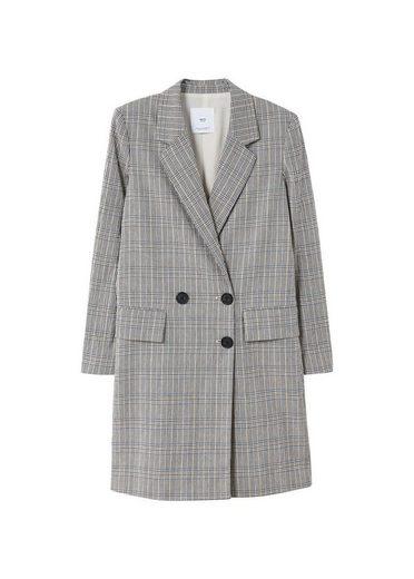 MANGO Strukturierter Mantel mit Karomuster