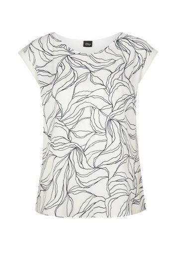 s.Oliver BLACK LABEL T-Shirt mit Blusen-Detail