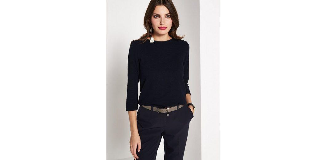 Günstig Kaufen Kosten COMMA 3/4-Arm Shirt mit aufregendem Strukturmuster Besuchen Neue Outlet Mode-Stil Neue Stile Verkauf Online Freies Verschiffen Bilder so2ex5J