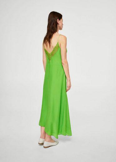 MANGO Kleid mit Spitzeneinsatz