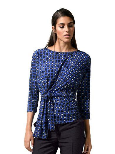 Alba Moda Shirt mit Zier-Bindeband in der Taille