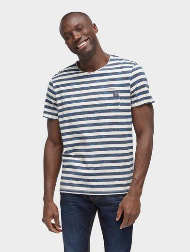 Tom Tailor T-Shirt gestreiftes T-Shirt mit Brusttasche