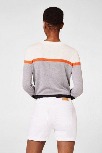 EDC BY ESPRIT Weiße Jeans-Shorts mit Stretch