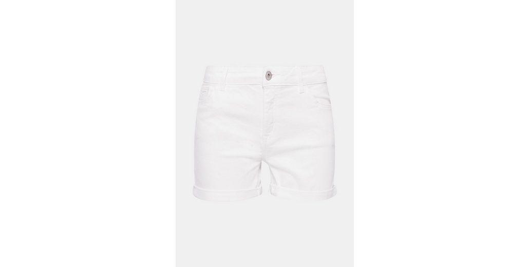 EDC BY ESPRIT Weiße Jeans-Shorts mit Stretch Verkauf Echt Große Auswahl An Günstigem Preis Neue Stile Online Spielraum Günstiger Preis Neue Preiswerte Online n5HPIGh