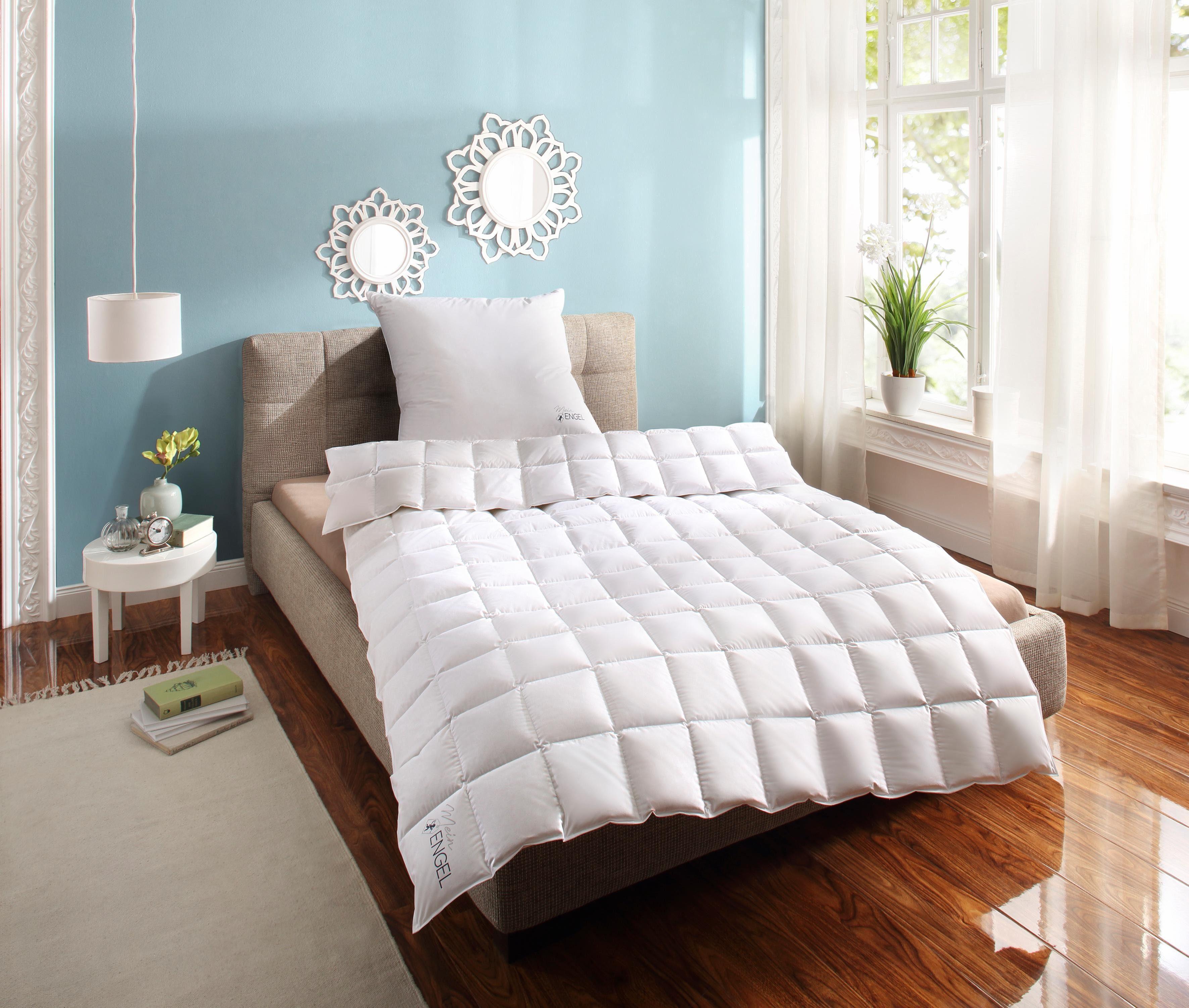 Daunenbettdecke, »Mein Engel«, Schlafstil, leicht, Füllung: 100% Gänsedaunen, Bezug: 100% Baumwolle, (1-tlg)