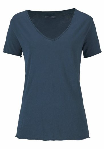 IMP by IMPERIAL T-Shirt, mit geschnittenen Rollkanten