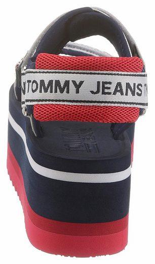 Sandalette Mit »colette 2 Jeans Tommy D« 1 Klettverschlüssen IxA1ySU