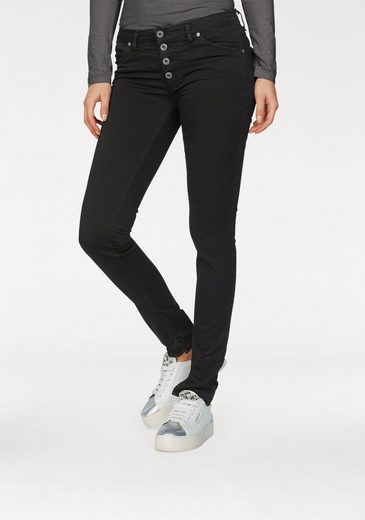 Please Jeans Skinny-fit-Jeans P90C, mit auffälliger Knopfleiste
